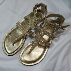 Gianni Bini gold sandals with studs